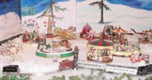 Come see the toy trains, moving figures and machines and lovely arts & crafts Nov. 25-26